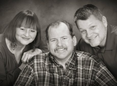 What is the promise of technology for family caregivers Trish and Richard, pictured her with her brother Robert.